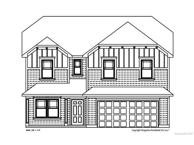 Architectural drawing of front view of custom designed home in Lake Wylie, SC
