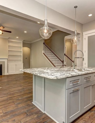 Interior of custom home designed by Design Time architects.