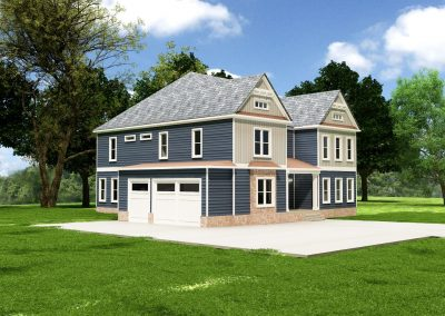 Eclectic Custom Home Design Plan 1